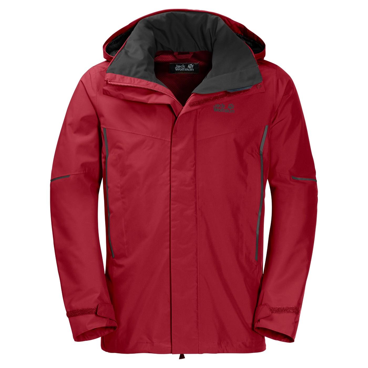 Jack Wolfskin Escalente Jacket Men - indian red xt - Regenjacken S