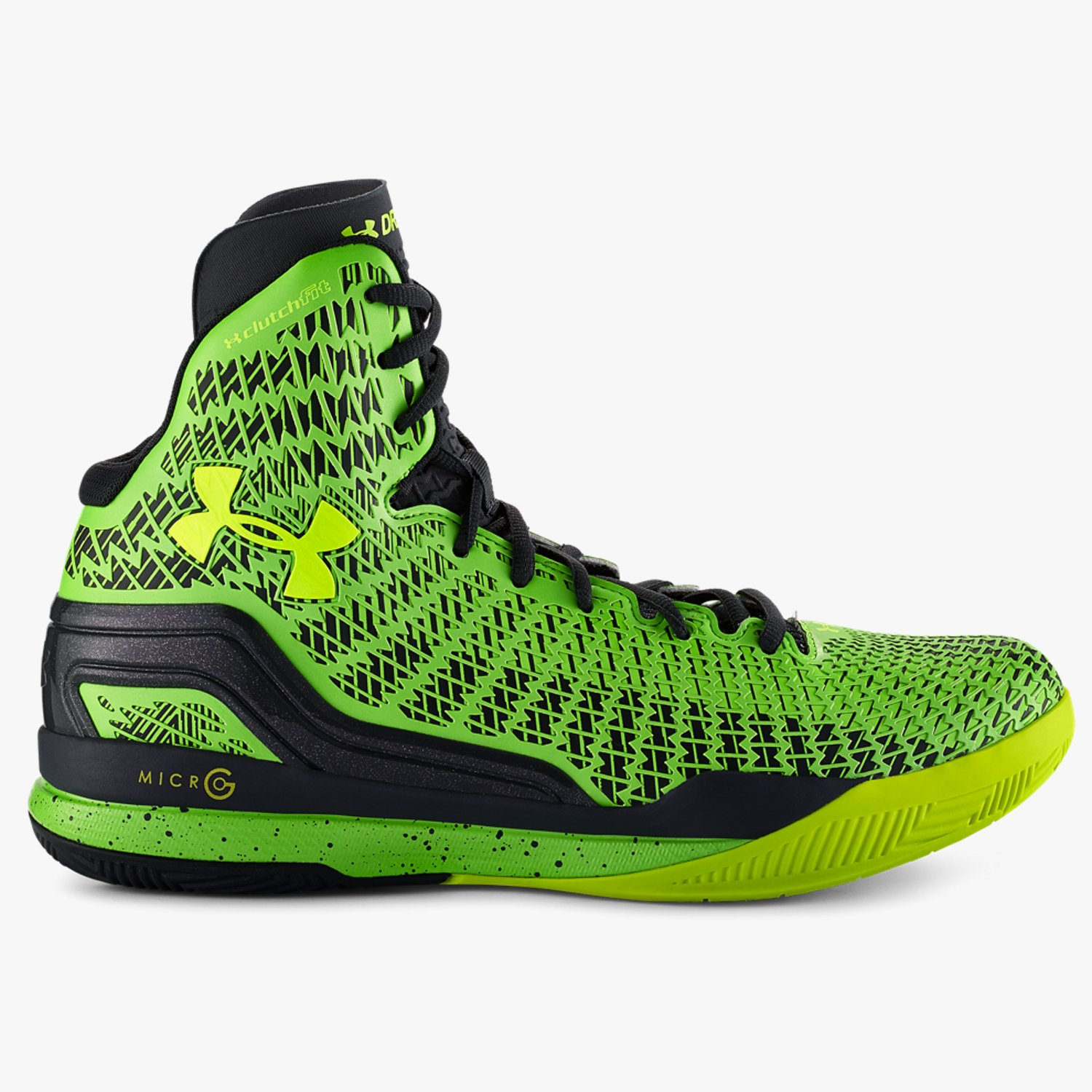 52350c8701f Under Armour UA ClutchFit Drive Mid Basketball Shoes Lead Hyper  Green High-Vis