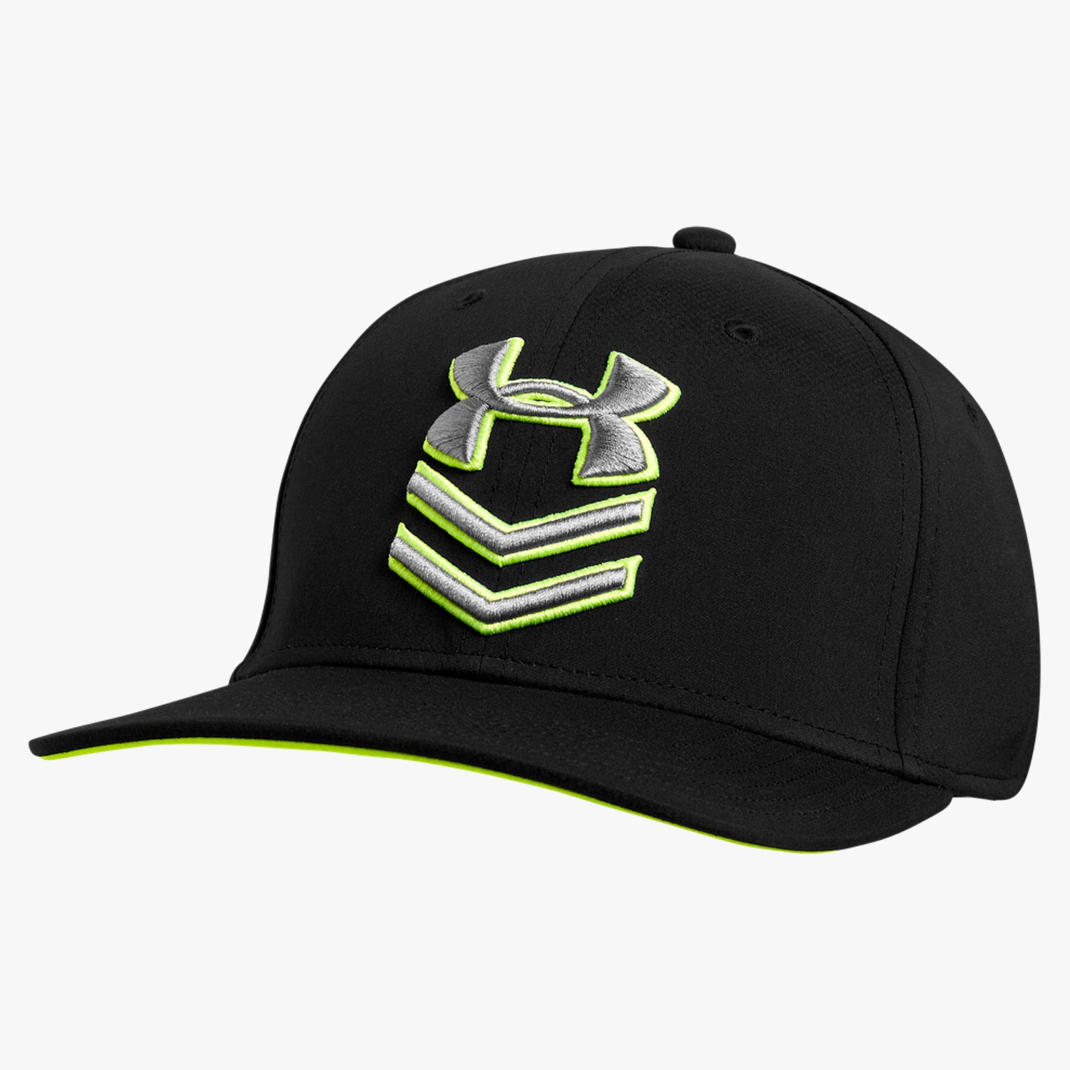258297d0dc7 Under Armour UA Undeniable Stretch Fit Cap Black High-Vis Yellow Graphite-