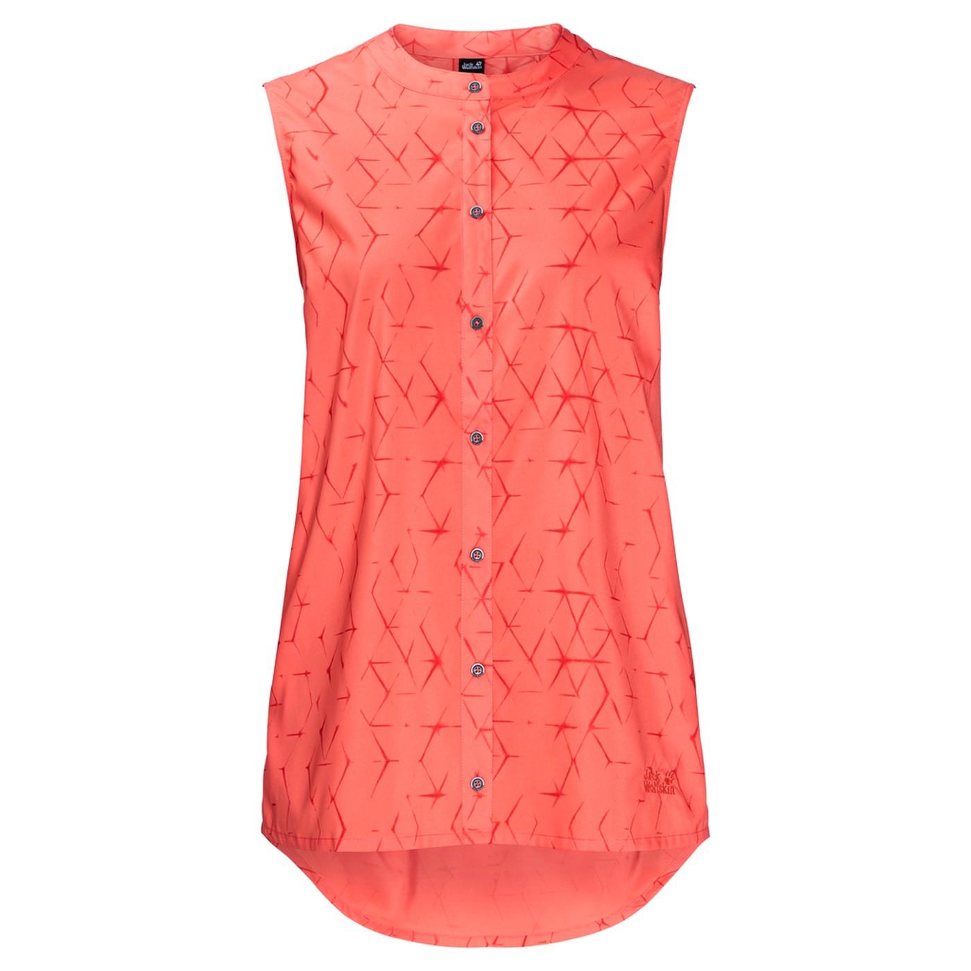 Hemden JACK WOLFSKIN Bluse Sonora Shibori Orange Bekleidung