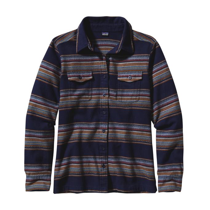 92134de54 Patagonia L/S Fjord Flannel Shirt Gaucho Stripe: Classic Navy - ch_en