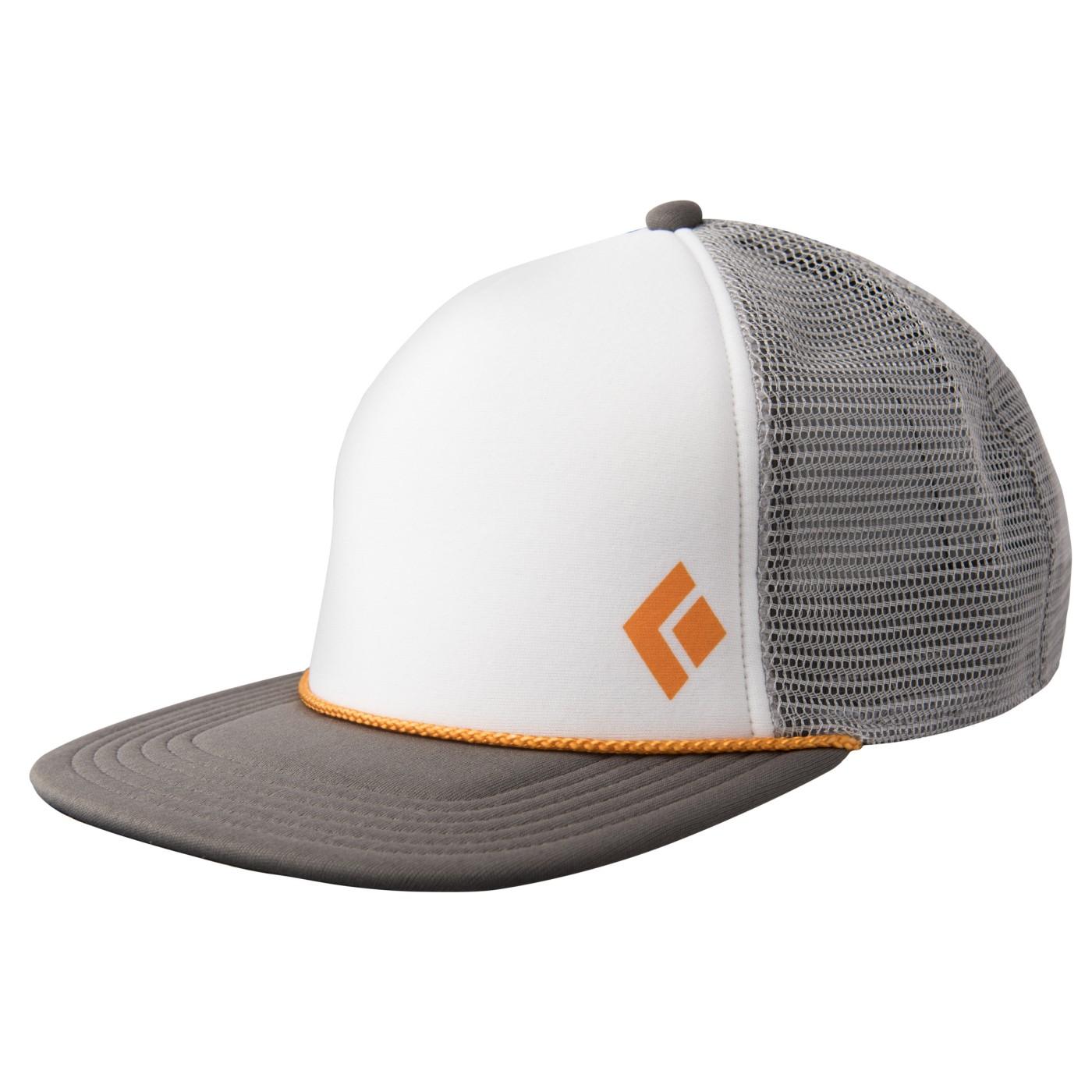 e2c5ad0f4eb18 Black Diamond Flat Bill Trucker Hat Granite-White - us