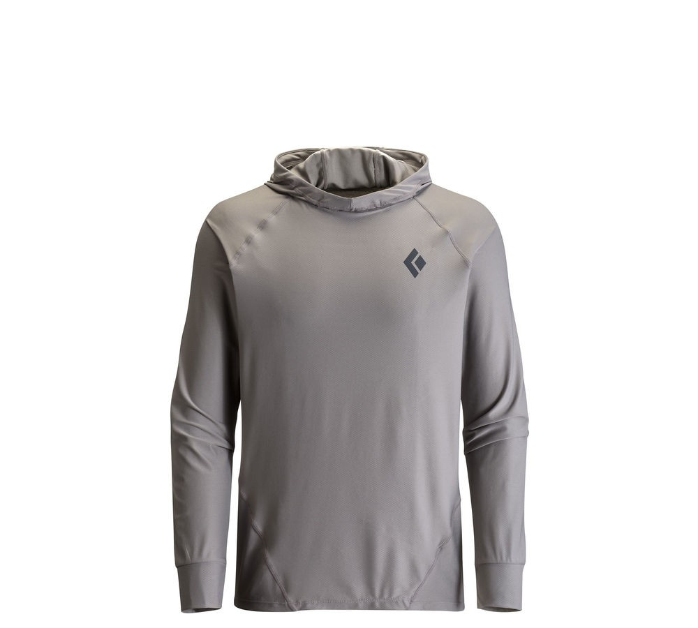 Black Diamond M Ls Alpenglow Hoody - Nickel - Pullover L