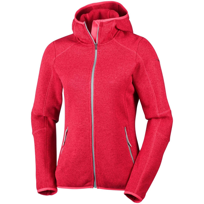 a52e50b1e886 Columbia Women s Altitude Aspect Hooded Fleece Red Camellia Heather - us