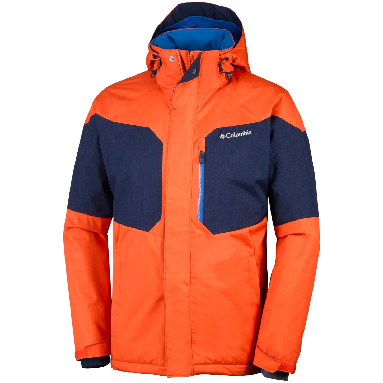 OrangeCollegiate Jacket Men's Tangy Action Ski Columbia Alpine wnv08mN