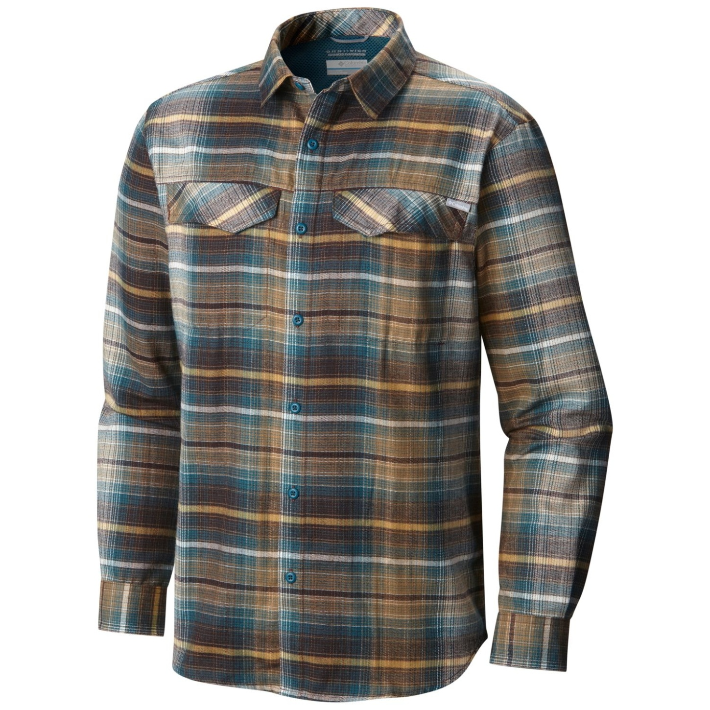 b20721fced7 Columbia Men's Silver Ridge Flannel Long Sleeve Shirt New Cinder Ombre Plaid -30