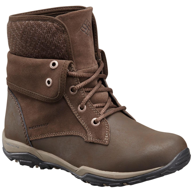 e6d85bdd54f Columbia Women's Cityside Fold Waterproof Winter Shoes Cordovan, Mud ...