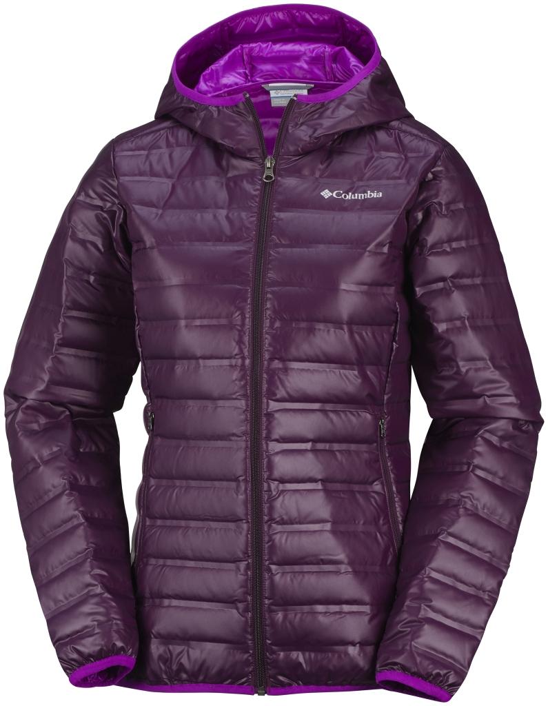 Columbia Women s Flash Forward Hooded Down Jacket Purple Dahlia Bright  Plum-30 bc4c35cfb