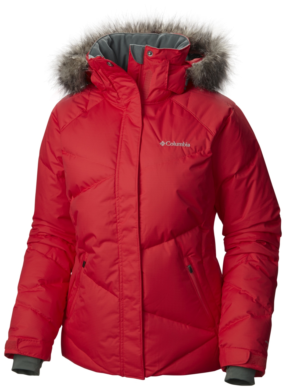 d73035e99 Columbia Women's Lay 'D' Down Ski Jacket Red Camellia - ch_en
