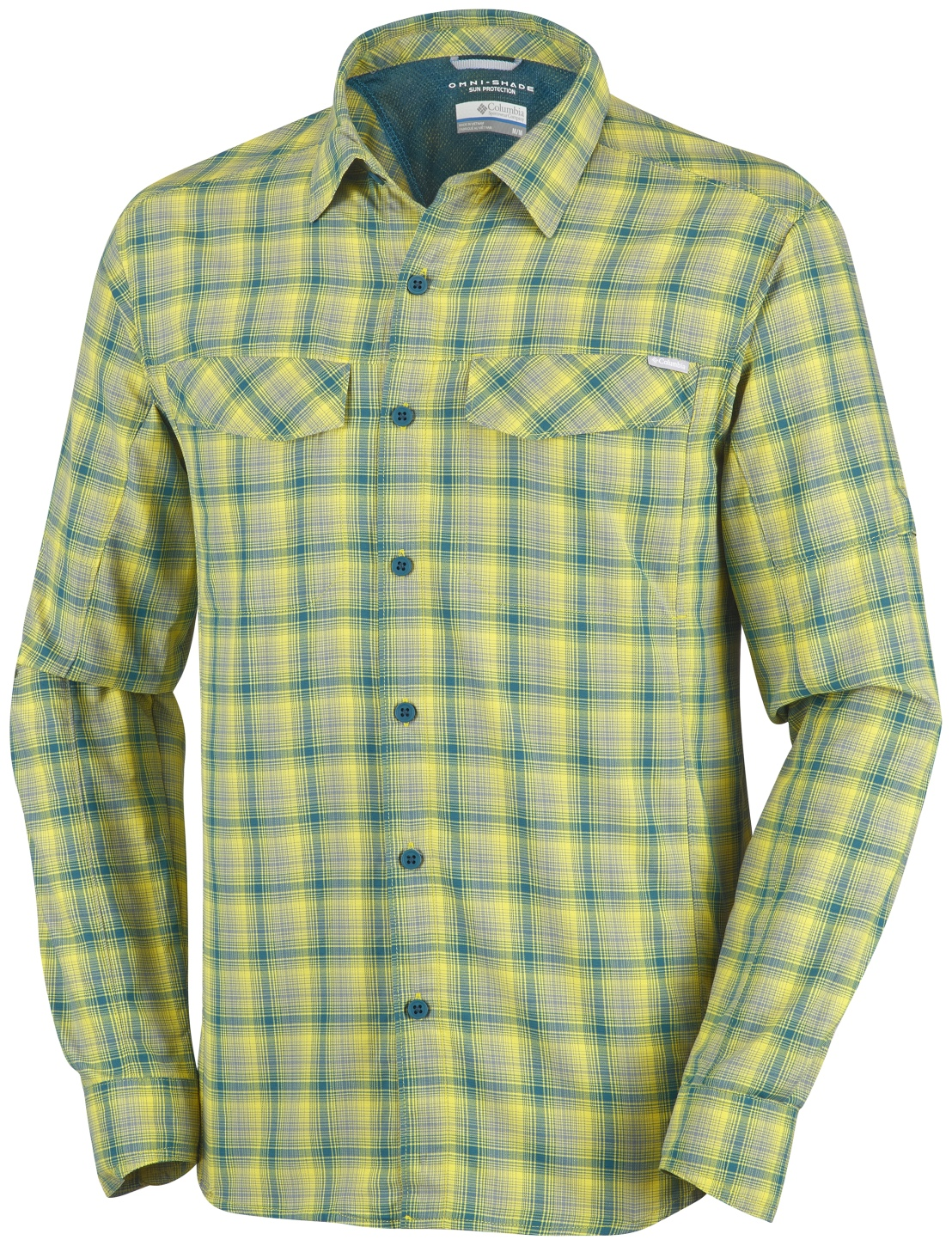 08d99958555 Columbia Men's Silver Ridge Plaid Long Sleeve Shirt Mineral Yellow - us