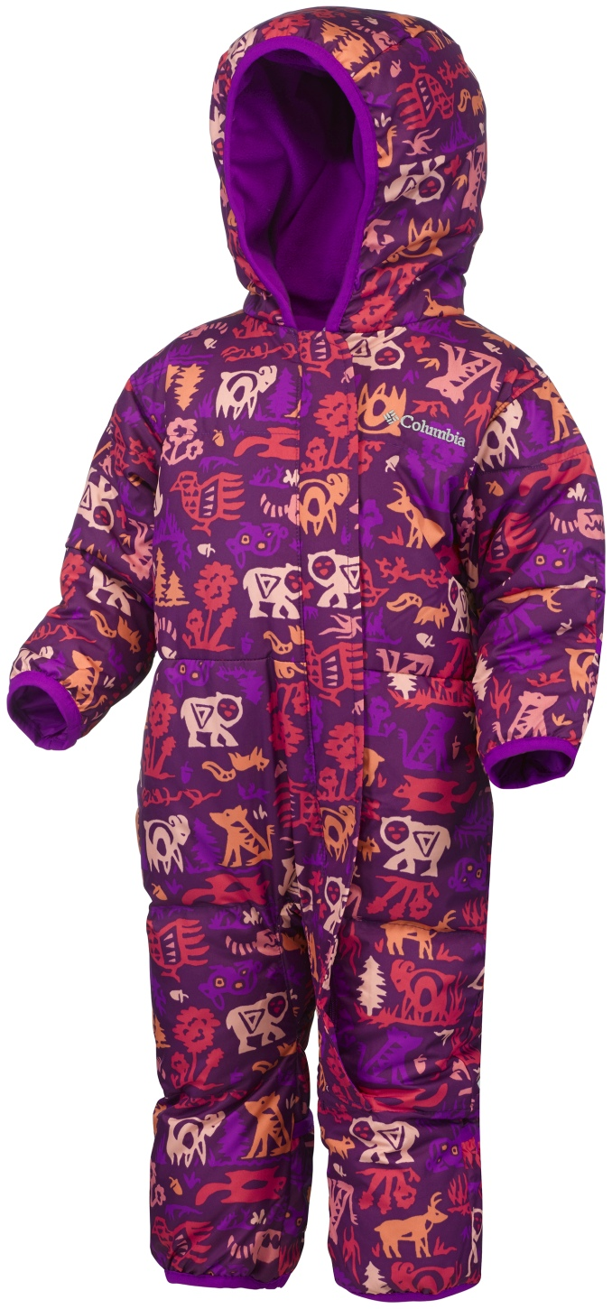 398898576 Columbia Toddlers' Snuggly Bunny Bunting Suit Bright Plum Critters - en