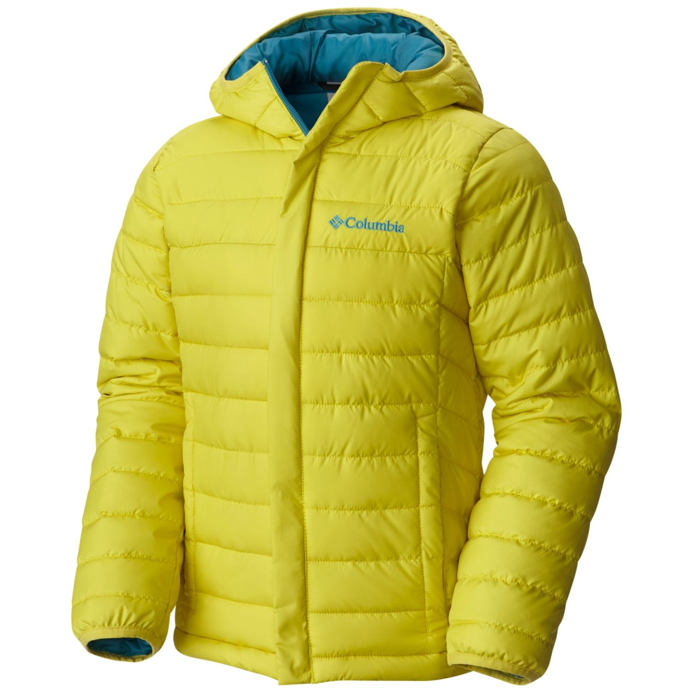 5a96cd257 Columbia Boys' Powder Lite Puffer Jacket Mineral Yellow - es