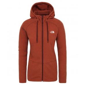 The North Face Women's Mezzaluna Full-Zip Hooded Fleece PICANTE RED STRIPE-20