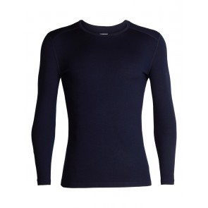Icebreaker Mens 260 Tech LS Crewe Midnight Navy-20