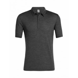 Icebreaker Mens Solace SS Polo Black HTHR-20