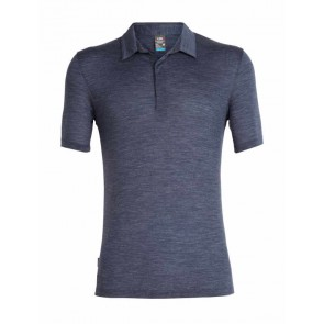 Icebreaker Mens Solace SS Polo Midnight Navy Hthr-20