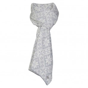 Dale of Norway Flora Scarf Light grey mel. /Off white mel.-20