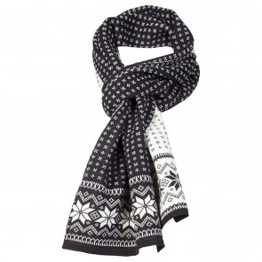 Dale of Norway Garmisch Scarf Black / off white / Dark charcoal-20
