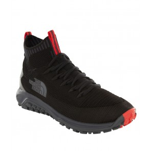 The North Face Men's Truxel Mid Hiking Shoes TNF BLACK/EBONY GREY-20