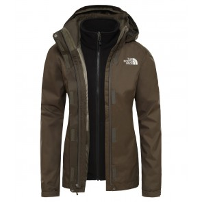 The North Face Women's Evolve II Triclimate Jacket NEW TAUPE GREEN/TNF BLACK-20