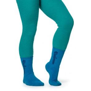 Woolpower Kids Socks Classic Logo 400 (5 Pack) Dolphine Blue-20