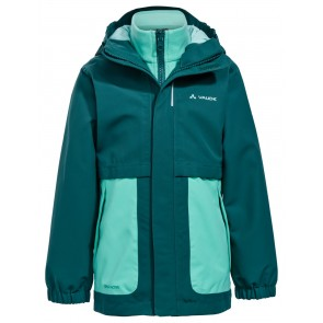 VAUDE Kids Campfire 3in1 Jacket Girls petroleum-20
