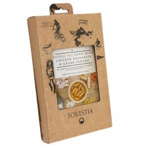 Forestia Eier-Spiralnudeln mit Hühnchen-Bolgonese und Grana Padano Self Heating (8 Pack)-20