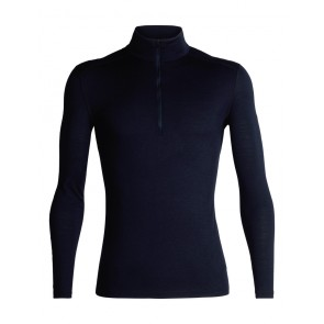 Icebreaker Mens 200 Oasis LS Half Zip Midnight Navy-20