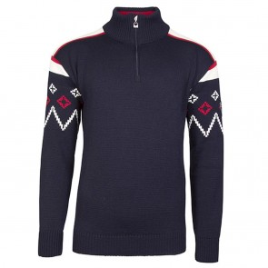 Dale of Norway Seefeld masculine sweater navy / raspberry / off white-20