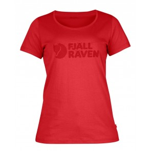FjallRaven Logo T-Shirt W. Neon Red-20