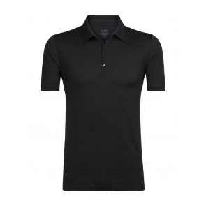 Icebreaker Mens Tech Lite SS Polo Black-20