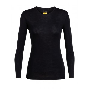 Icebreaker Wmns 175 Everyday LS Crewe Black-20