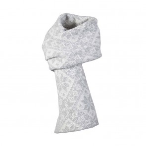 Dale of Norway Rose scarf Light charcoal / Off white-20