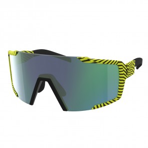 Scott Sunglasses Shield black/yellow green chrome-20