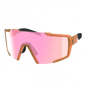 Scott Sunglasses Shield translucent orange pink chrome-20