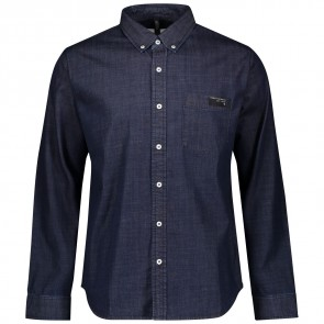Scott Shirt M's 10 Casual l/sl denim blue-20