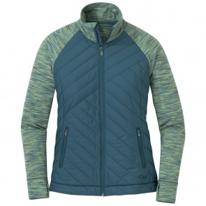 Outdoor Research Women's Melody Hybrid Full Zip washed peacock multi-20