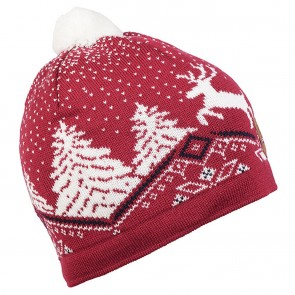 Dale of Norway Dale Christmas Hat Raspberry/ Off white/ Navy-20