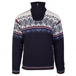 Dale of Norway Vail WP Masc Sweater XL Midnight navy / red Rose / off white / indigo / china blue-20