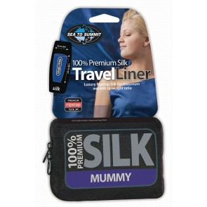 Sea To Summit Silk Stretch Liner Mummy (Tapered) Navy Blue-20