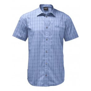 Jack Wolfskin Rays Stretch Vent Shirt Men shirt blue checks-20