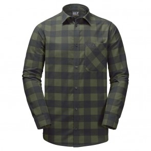 Jack Wolfskin Red River Shirt woodland green checks-20