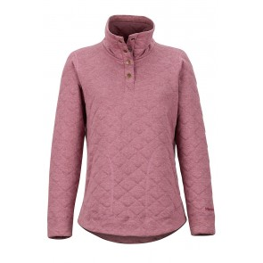 Marmot Women's Roice Pulllover LS Dry Rose Heather-20