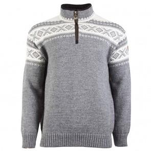 Dale of Norway Cortina Half Zip Uni Sweater Smoke / off white-20