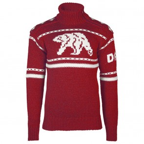 Dale of Norway Isbjørn Uni Sweater Ruby red / Off white-20
