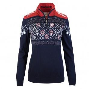 Dale of Norway Podium Feminine Sweater Navy / Raspberry / Off white-20
