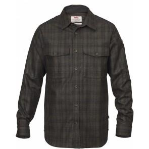 FjallRaven Övik Re-Wool Shirt LS Dark Grey-Olive-20