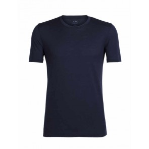 Icebreaker Mens Tech Lite SS Crewe Midnight Navy-20