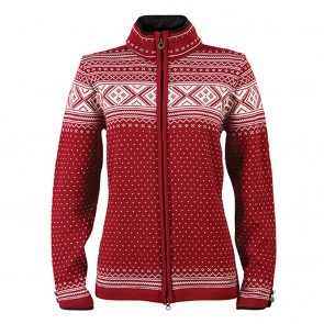 Dale of Norway Valle Fem Jacket red rose / off white-20