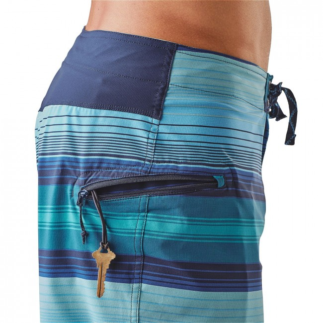 b7905bba6c Patagonia M's Stretch Planing Board Shorts 20 in. Blanket Stripe: Big Sur  Blue-. Zoom